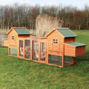 Trixie Pet Products Duplex Chicken Coop with Outdoor Run