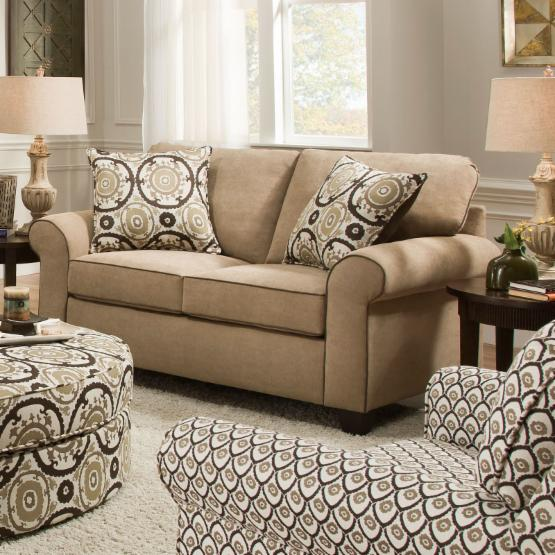 Simmons Beachfront Froth Loveseat