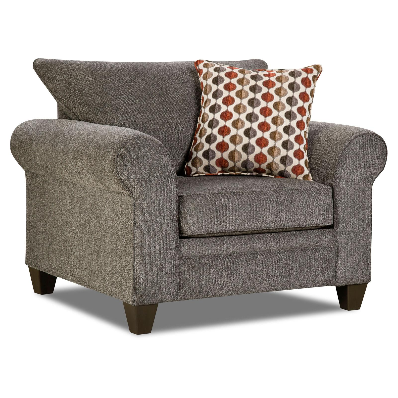 Simmons Upholstery Albany Accent Chair - 1647-01 ALBANY PEWTER