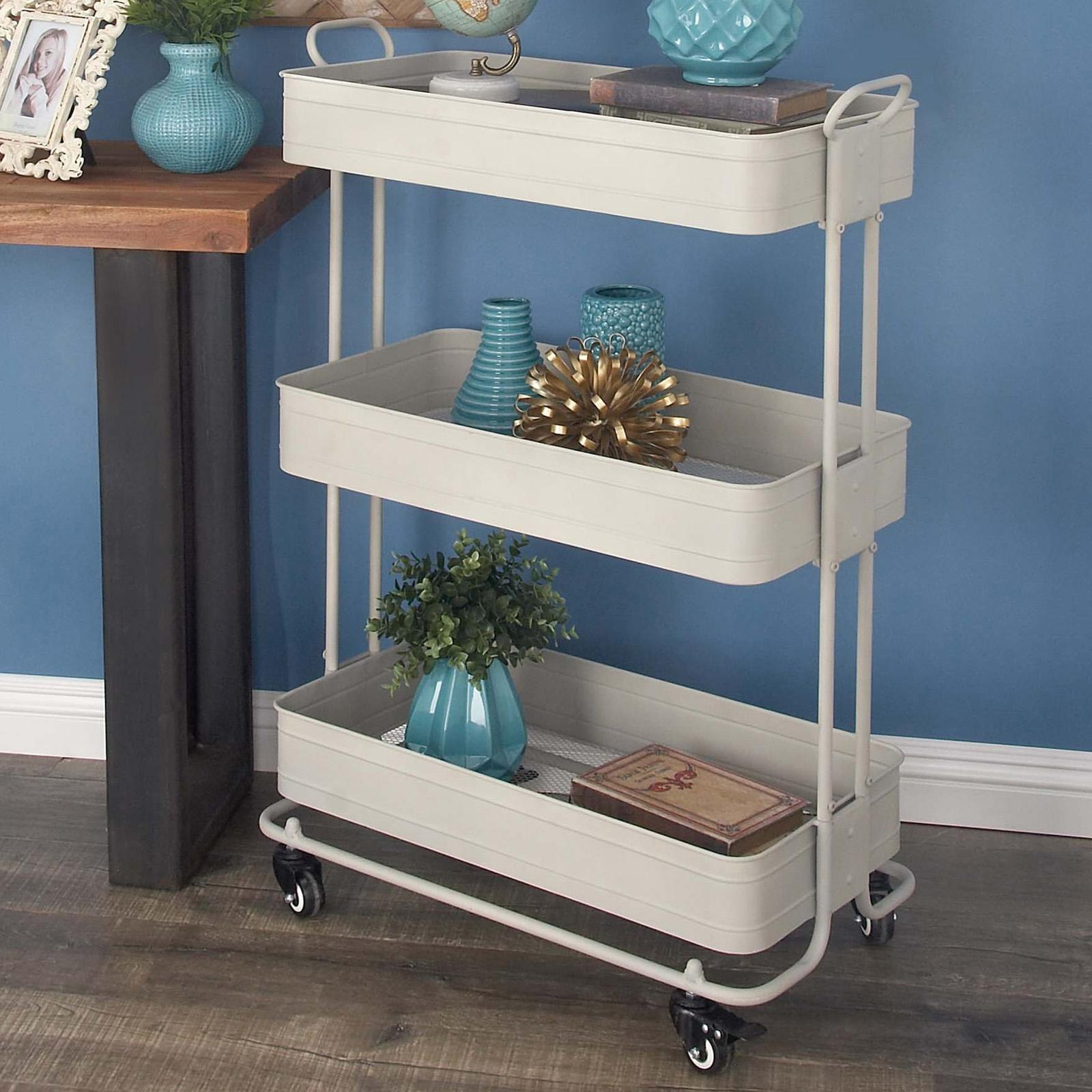 Decmode Contemporary Sewing Storage Cart - 94647