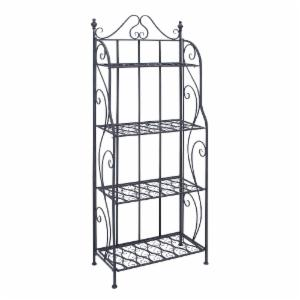 DecMode 4 Shelf Bakers Rack - Black