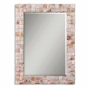 Uttermost Vivian Mother of Pearl Wall Mirror - 27W x 36.25H in.