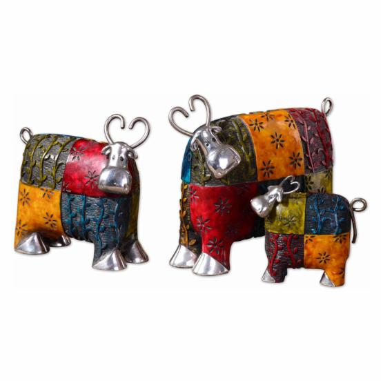 Uttermost 19058 Colorful Cows - Set of 3