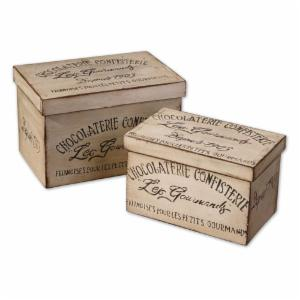 Uttermost 19300 Chocolaterie Boxes - Set of 2