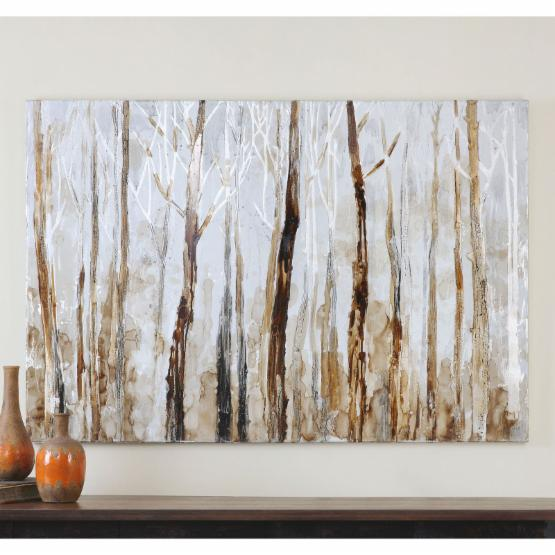 Uttermost Mystic Forest Hand Painted Art