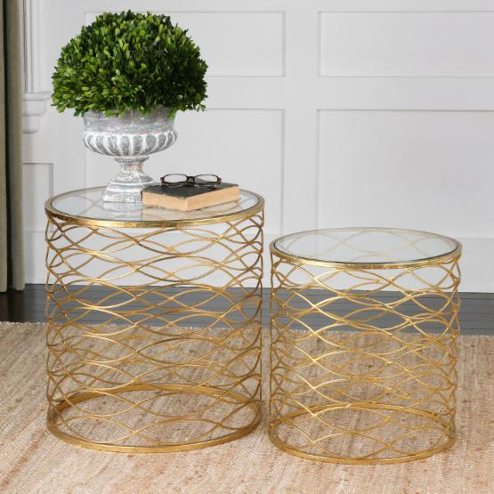 Uttermost Zoa Gold Accent Tables - Set of 2