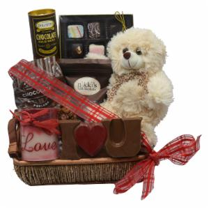 Deluxe Chocolate Love Valentines Day Gift Basket