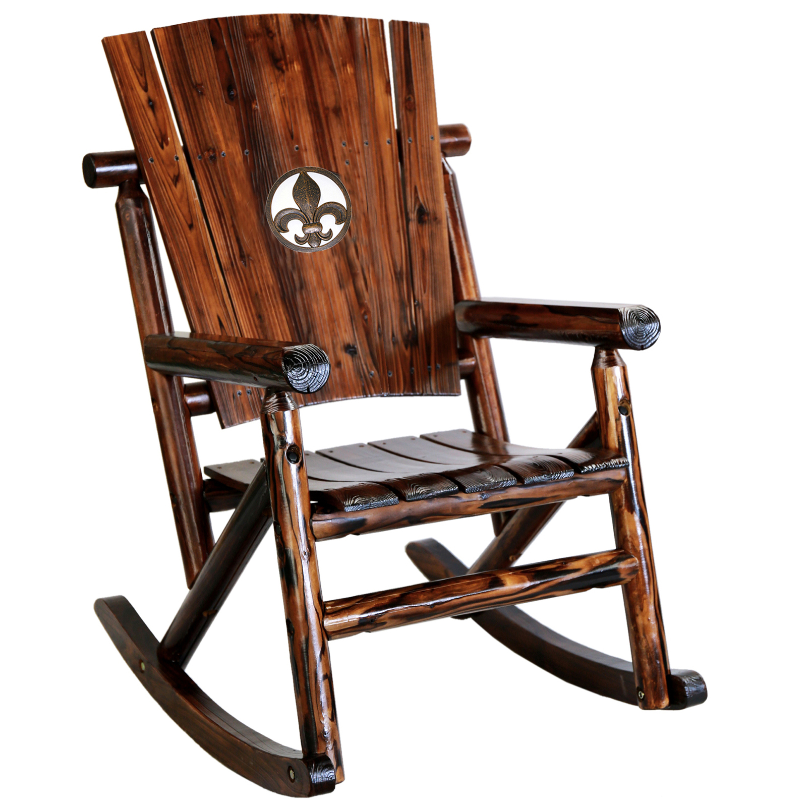 Belham Living Cottonwood Indoor Outdoor Wood Rocking Chairs Set