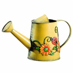HGC Decorative Sunflower & Ladybug Metal Watering Can