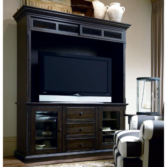 Paula Deen Down Home Entertainment Console with Hutch - Molasses
