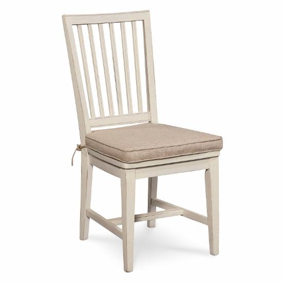 Universal Furniture Great Rooms Slat Back Dining Side Chair - Washed Linen - Set of 2