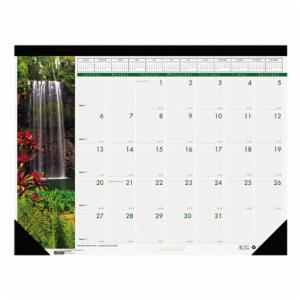 House of Doolittle Recycled Waterfalls of the World Photo Monthly Desk Pad Calendar, 22 x 17, 2017