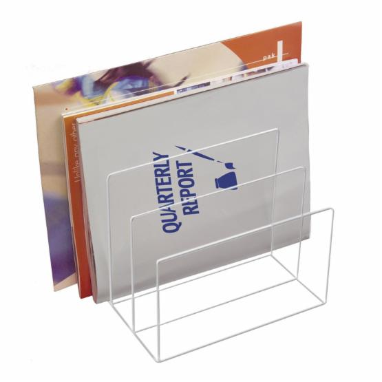 Kantek AD45 Clear Acrylic Desk File with 3-Sections
