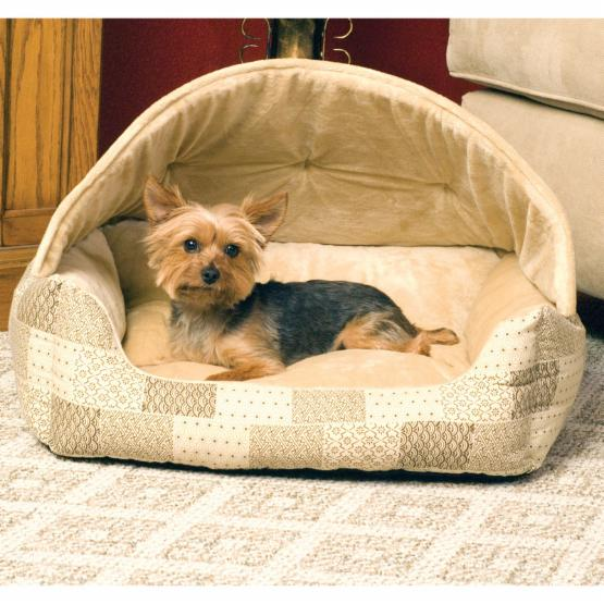 K&H Pet Products Lounge Patchwork Hooded Sleeper - 20 x 25 in.