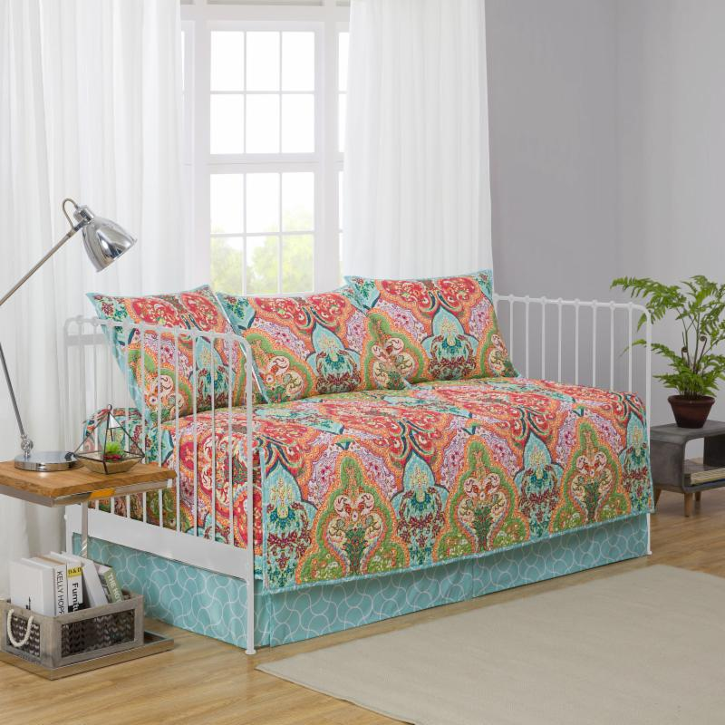 Jeweled Damask Daybed Bedding Set by Mainstays