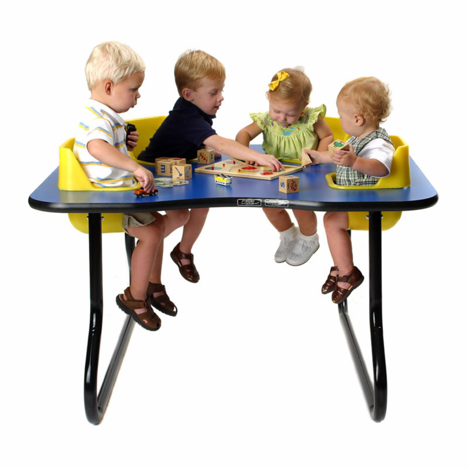 Toddler Tables 4 Seat Space Saver Toddler Activity Table ...