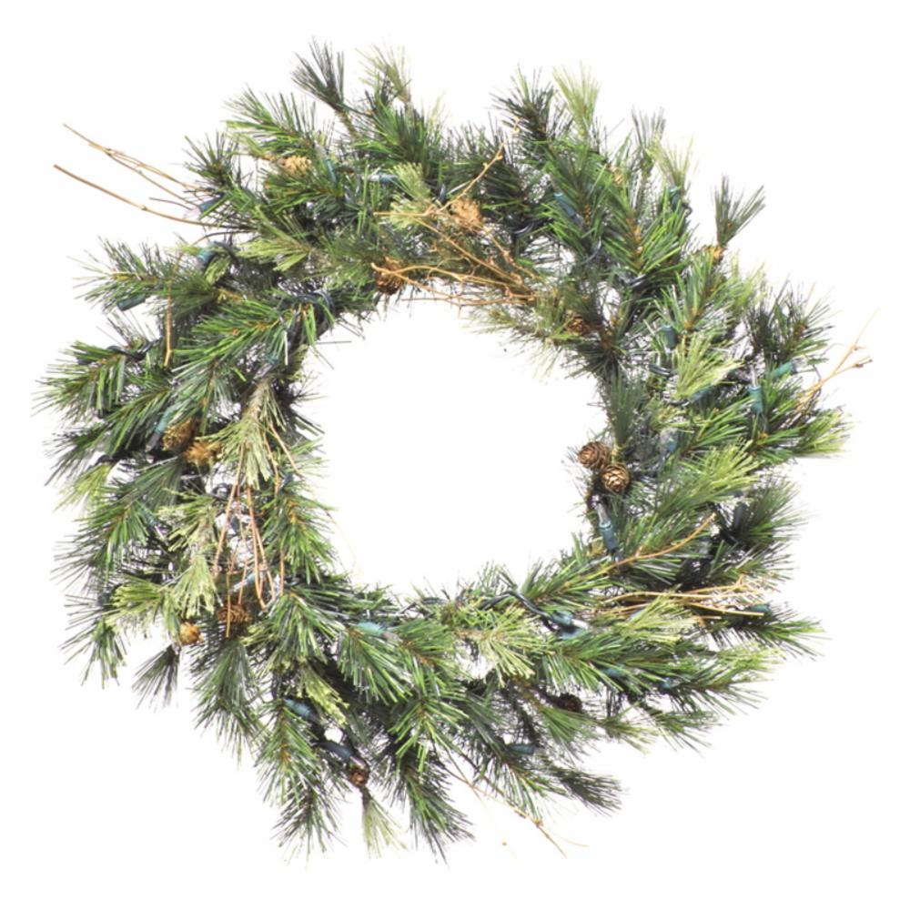 16 in. Mixed Country Prelit Wreath