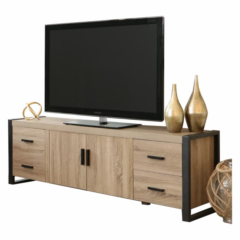 "Walker Edison 70"" Driftwood Wood Tv Stand Console"