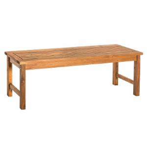 Walker Edison Acacia Wood Patio Dining Bench