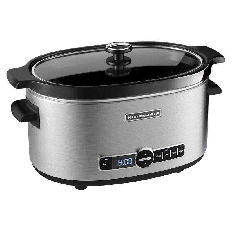 KitchenAid 6-qt. Slow Cooker with Solid Glass Lid - F2C44...