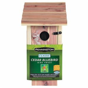 Pennington Seed Cedar Bluebird Wild Bird House
