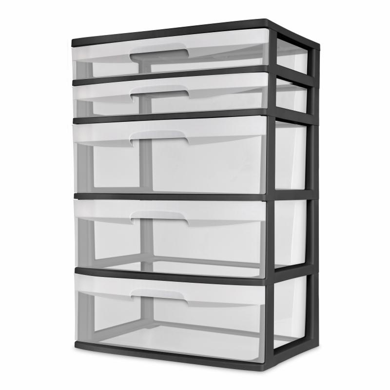 Sterilite 5 Drawer Wide Tower - Black - 0BF47380BD7D4C768...