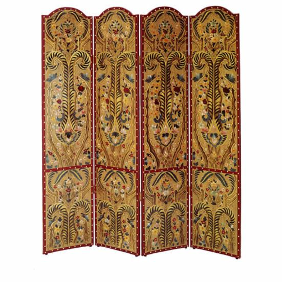 Redfield Hand-Painted 4 Panel Room Divider