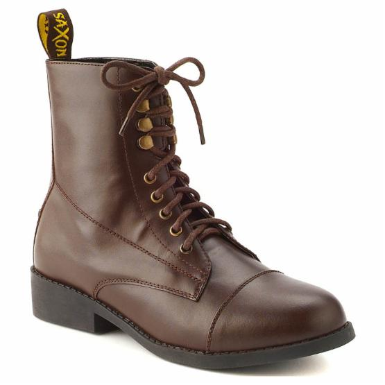 Saxon Ladies Equileather Lace Boots