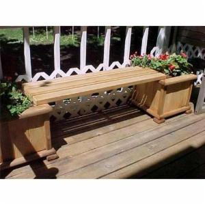 Wood Country 4 ft. Cedar Backless Planter Bench