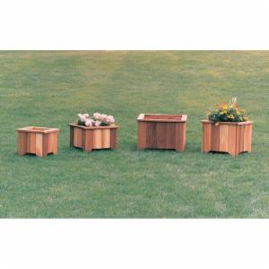 Wood Country Square Cedar Wood Meridian Planter