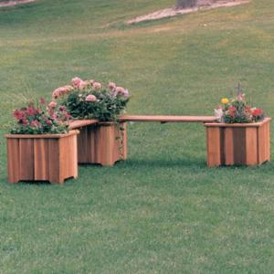 Wood Country Double 3-ft. Cedar Backless Planter Bench