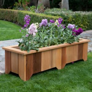 Wood Country Rectangle Cedar Wood Pocatello Planter - Set of 2