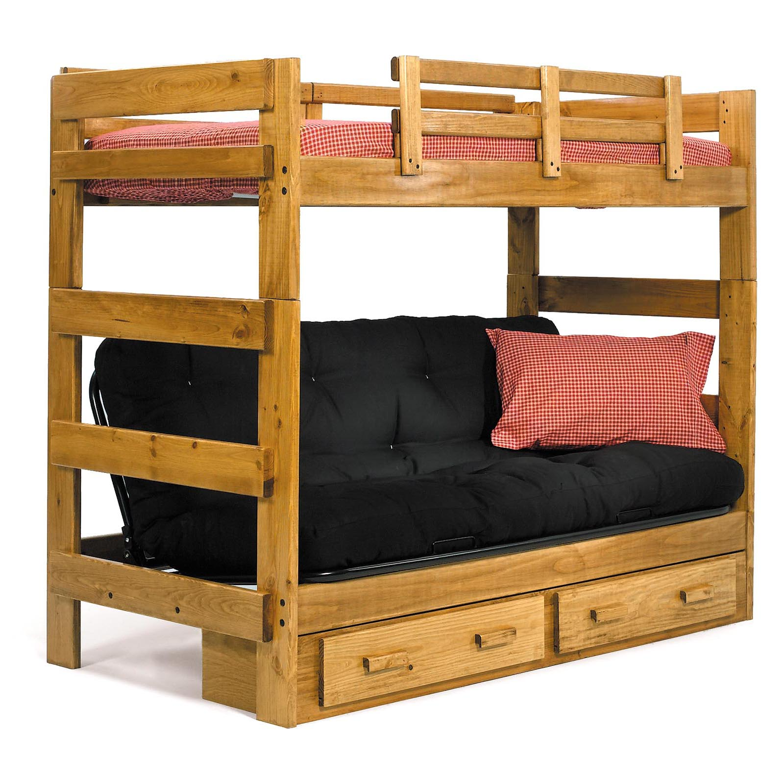 Twin-Over-Futon Bunk Bed Plans