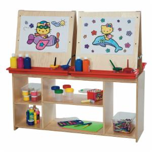 Wood Designs Childrens Art Easel Center for Four