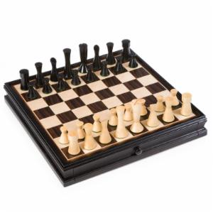Modern Chess/Checkers Set with Storage