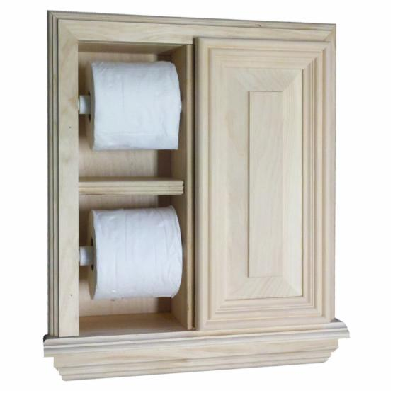 WG Wood Ruby Recessed Deluxe Toilet Paper Holder
