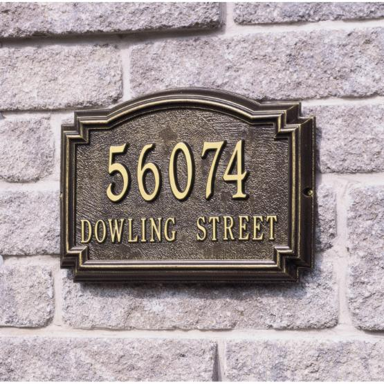Whitehall Williamsburg 2-line Personalized Address Plaque