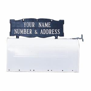 Whitehall Double Sided 2-line Mailbox Sign without Ornament