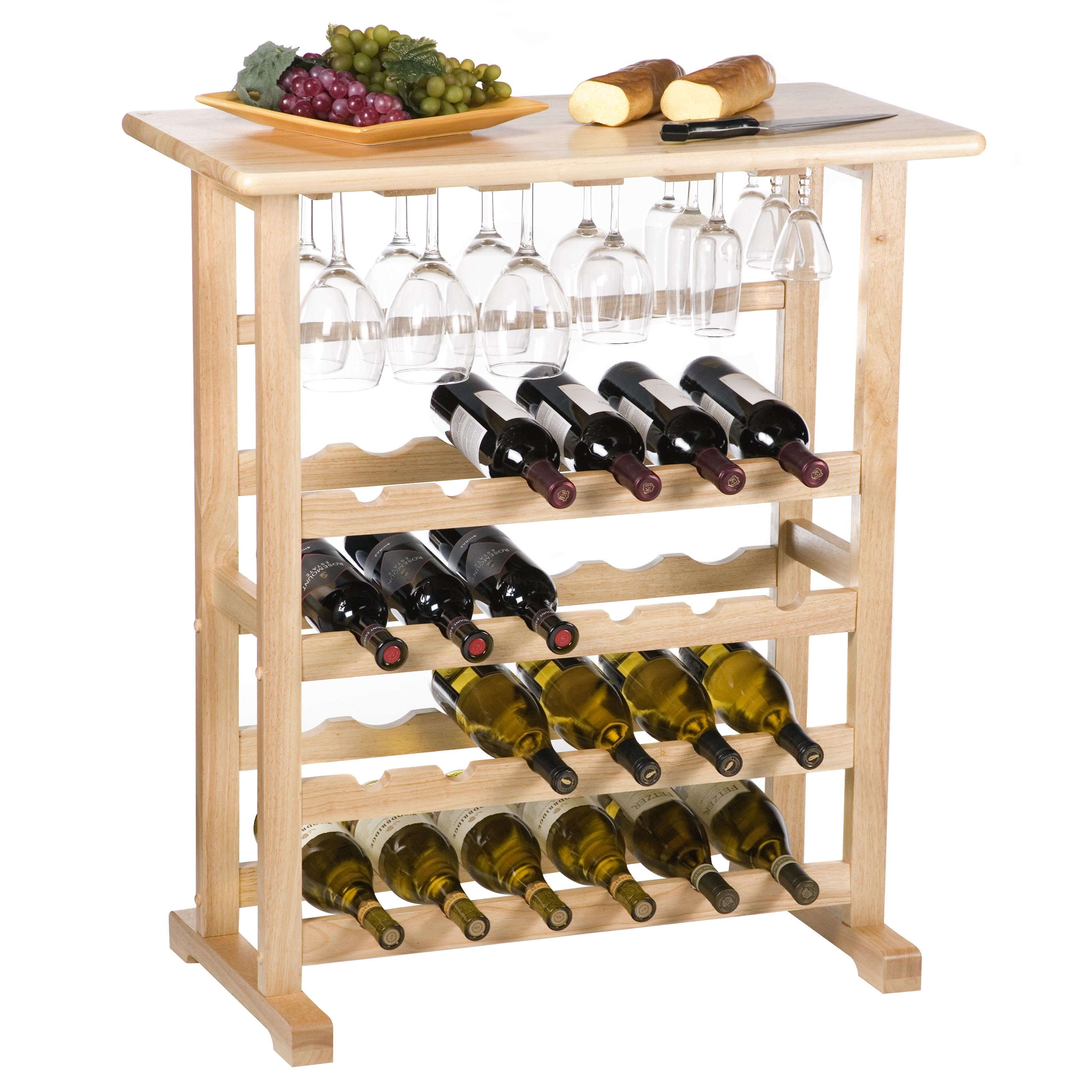 countertop of glass rack size top full holder for image wine counter walmart