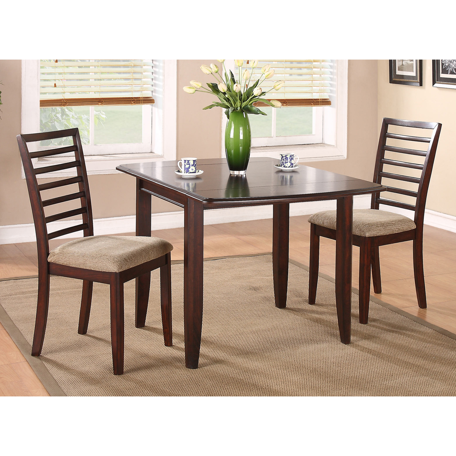 Winners Only Brownstone 3 Piece Drop Leaf Dining Table Set