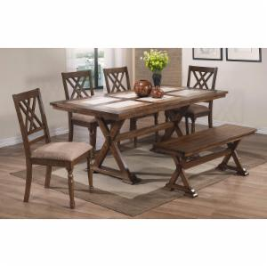 Winners Only Florence 6 Piece X-Leg Dining Table Set
