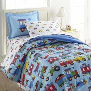 Trains, Planes, Trucks Comforter Set by Olive Kids