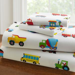 Trains, Planes, Trucks Sheet Set by Olive Kids