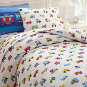 Trains, Planes, Trucks Duvet Cover by Olive Kids