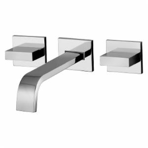 WS Bath Collections Level LEP 003 Wall Mount Bathroom Sink Faucet