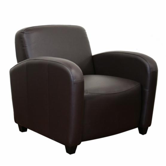 Baxton Studio Marena Brown Leather Contemporary Club Chair
