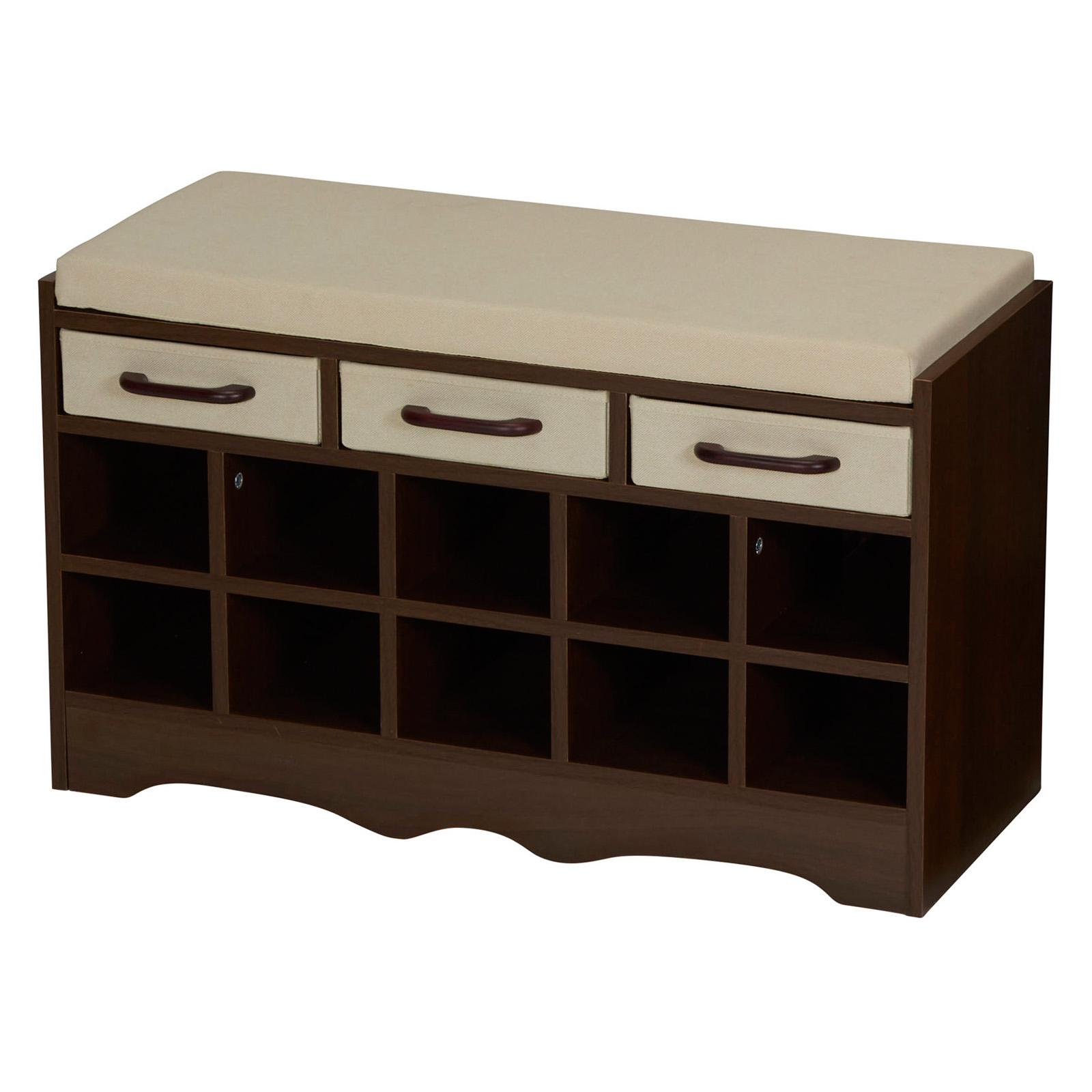 Household Essentials Entryway Storage Bench With Shoe
