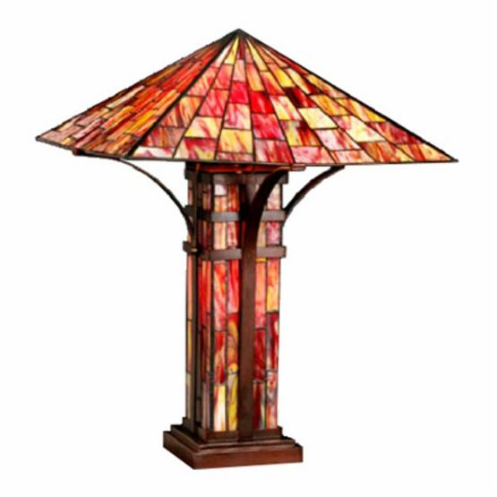 Warehouse of Tiffany Mission Double Lite Table Lamp