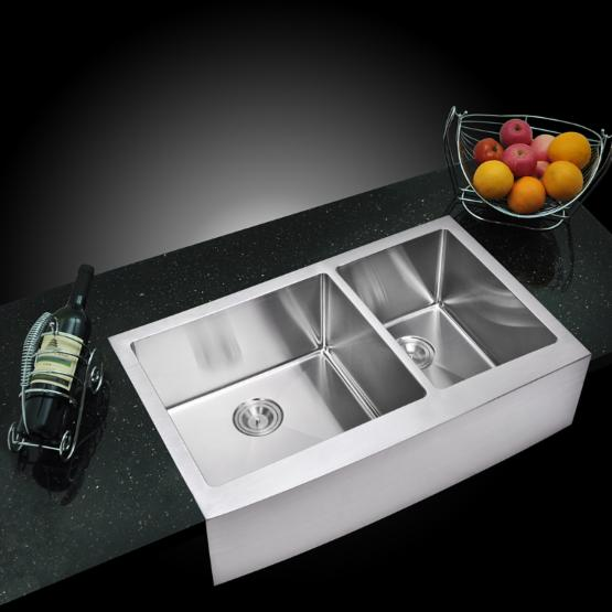 Water Creation SSS-AD-3622C Double Basin Farmhouse Kitchen Sink