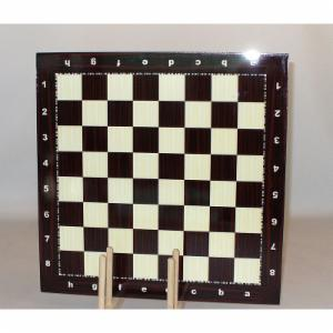 Wood Grain Decoupage Chess Board with Alpha Numeric Markings